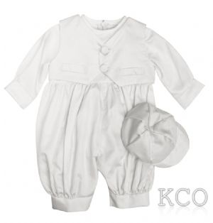 Waistcoat Dupion Romper White~ Boys Suits
